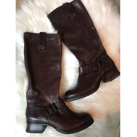 good selling 100% quality newest collection ✨ SALE! ✨• FRYE Tall Brown Leather Riding Boots •